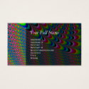 Color Game - Fractal Art Business Card