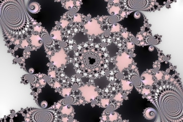 mandelbrot fractal image named .Black and pink.