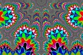 Mandelbrot fractal image .Color symmetry.
