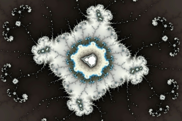 mandelbrot fractal image named .Snow art.