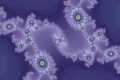 Mandelbrot fractal image All blue.