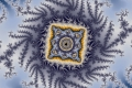 Mandelbrot fractal image blue crown