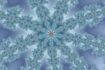mandelbrot fractal image named Blue Ice