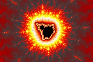 mandelbrot fractal image named burst fire