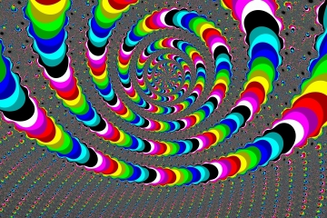 mandelbrot fractal image named Colored curve