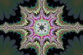 Mandelbrot fractal image Colored geometry