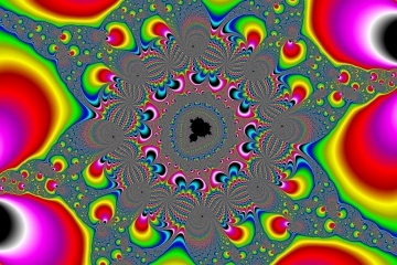mandelbrot fractal image named Curlique-16Color