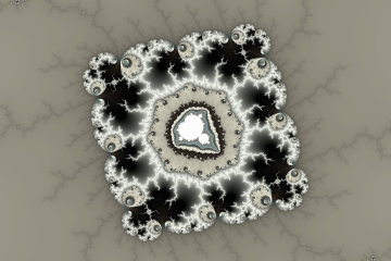 mandelbrot fractal image named Dark color