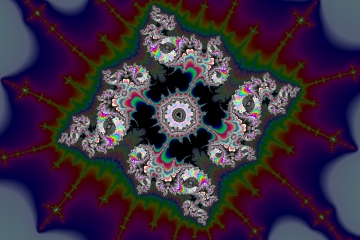 mandelbrot fractal image named dragon star