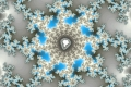 Mandelbrot fractal image Eight blue