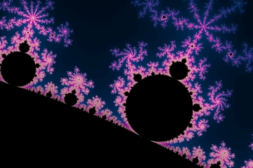 mandelbrot fractal image named Electric Blossom
