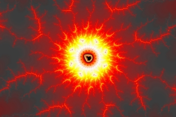 mandelbrot fractal image named fire