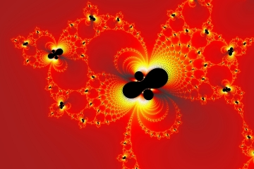 mandelbrot fractal image named Fire Crystals