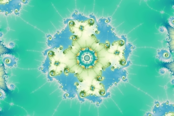 mandelbrot fractal image named force path II