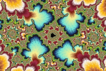 mandelbrot fractal image named Four blue...