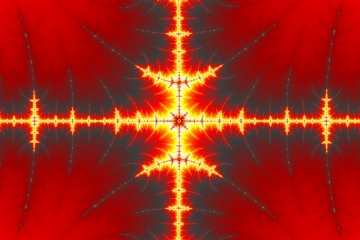 mandelbrot fractal image named four ways of fire