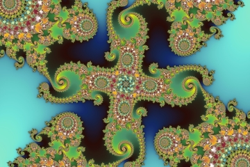 mandelbrot fractal image named Fractal cross