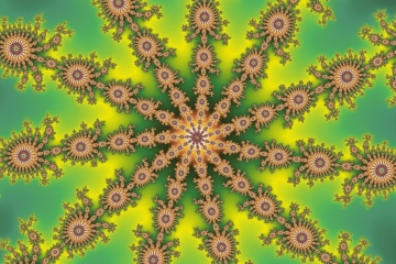 mandelbrot fractal image named green star