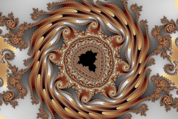 mandelbrot fractal image named happy birthday