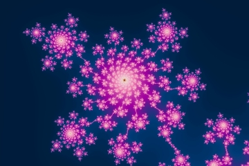 mandelbrot fractal image named Happy new year