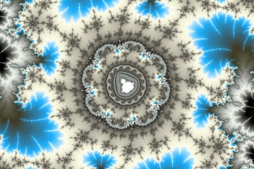 mandelbrot fractal image named Ice crystal..