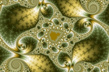mandelbrot fractal image named Leaf and gold