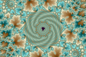 mandelbrot fractal image named leafy whorls