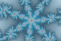 Mandelbrot fractal image let it snow