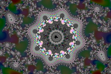 mandelbrot fractal image named Night flower
