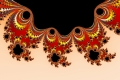 Mandelbrot fractal image Orange and black