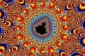 Mandelbrot fractal image Orange circle