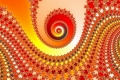 Mandelbrot fractal image Orange hollow