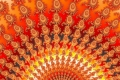 Mandelbrot fractal image Orange ray