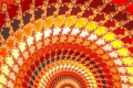 Mandelbrot fractal image Orange ray II