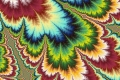 Mandelbrot fractal image Rainbow Feather