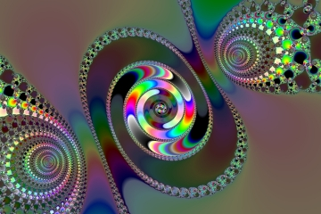 mandelbrot fractal image named rainbow fun I