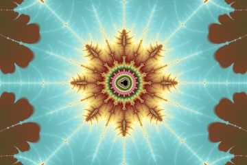 mandelbrot fractal image named rainbow star