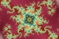 Mandelbrot fractal image Red background