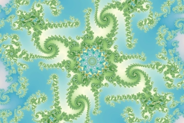 mandelbrot fractal image named Sea vegetation