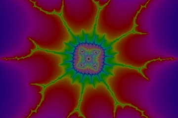 mandelbrot fractal image named star lotus 2
