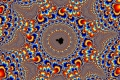 Mandelbrot fractal image Strong color.