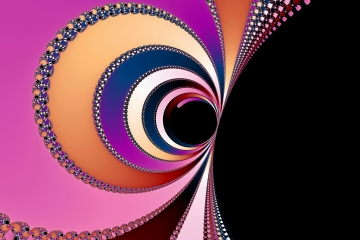 mandelbrot fractal image named swirling