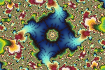 mandelbrot fractal image named Very blue