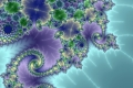 Mandelbrot fractal image water and ice