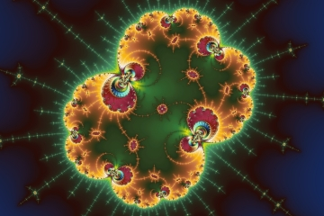 mandelbrot fractal image named Wicked Glow