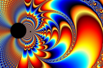 mandelbrot fractal image named worlds collide