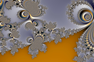 mandelbrot fractal image named Yellow Brick Road